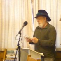"Martin Bock reading his poem, ""braid"""