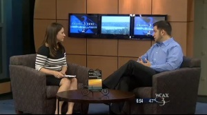 Molly Smith of WCAX and I chat about the book and the BWW.