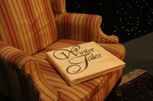 Winter Tales Book in chair