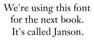 Janson Font